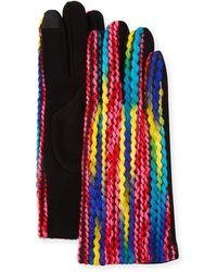 Neiman Marcus - Multicolor Yarn Gloves - Lyst