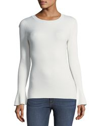 Metric Knits - Ribbed Bell-sleeve Sweater - Lyst