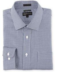 Neiman Marcus - Classic-fit Regular-finish Basket Weave Print Dress Shirt - Lyst