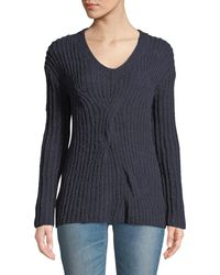 Leon Max - Alpaca-blend Twisted Pullover Sweater - Lyst