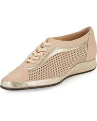Amalfi by Rangoni - Ethel Perforated Leather Sneaker - Lyst
