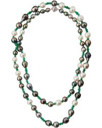 Assael - Long Emerald & Baroque Tahitian & South Sea Pearl Necklace - Lyst