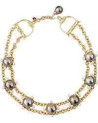 Assael - 18k Tahitian Pearl & Diamond Double-strand Choker Necklace - Lyst