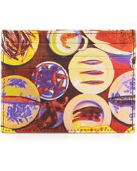 Etro - Plate Printed Leather Card Case - Lyst