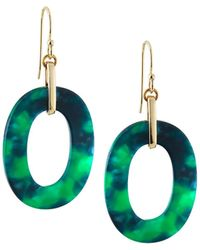 A.V. Max - Oval Link Drop Earrings Green - Lyst