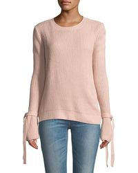 Haute Rogue - Stella Tie-sleeve Crewneck Sweater - Lyst