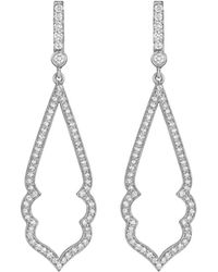 Penny Preville 18k White Gold Diamond Stiletto Drop Earrings DZQu2pvSX