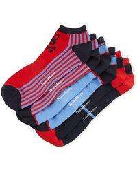 Psycho Bunny Striped Three-pack Athletic Sock Set