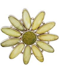 Stephen Dweck - Green Turquoise & Quartz Flower Pin - Lyst