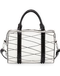 L.A.M.B.   Jinger Studded Leather Satchel Bag   Lyst