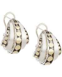 John Hardy - Dot Deco Buddha Belly Hoop Earrings - Lyst
