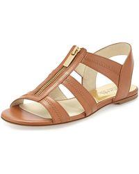 Kors by Michael Kors - Berkley T-strap Flat Sandal - Lyst