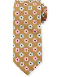 Peter Millar - Flower-print Silk-cotton Blend Tie - Lyst