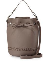 Posse | Miranda Whipstitch Leather Bucket Bag | Lyst