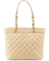 St. John - Quilted Leather Tote Bag - Lyst