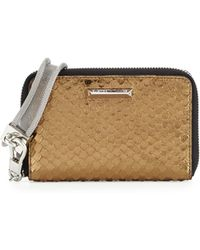 Elizabeth and James - Pyramid Snake-embossed Phone Wristlet - Lyst