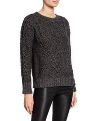 MICHAEL Michael Kors - Drop-shoulder Cable-knit Sweater - Lyst