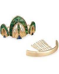 Neiman Marcus - Art Deco Bun Pin Set - Lyst