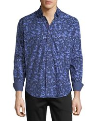 Bugatchi - Men's Shaped-fit Abstract Sport Shirt - Lyst