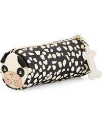 Betsey Johnson - Pug Faux-leather Pencil Case - Lyst