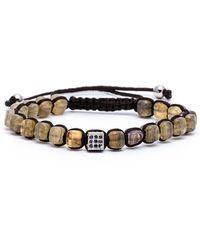Jared Lang - Men's Lux Beaded Cord Bracelet - Lyst