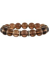 Bavna - Smoky Quartz Bracelet W/ Diamond Spacers - Lyst