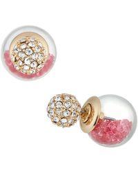 Lydell NYC - Dark Fuchsia Globe Shaker Stud Earrings - Lyst
