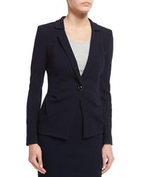 Armani | Side-ruching One-button Jacket | Lyst
