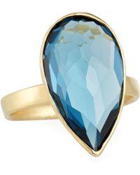 Ippolita - 18k Rock Candy® Medium Teardrop Ring In London Blue Topaz - Lyst