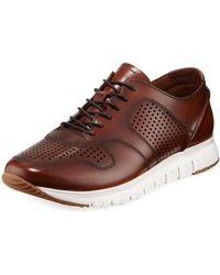 Kenneth Cole - Men's Men's Perforated And Smooth Sneakers - Lyst