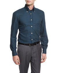 Kiton - Houndstooth Sport Shirt - Lyst