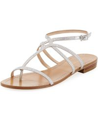 Pelle Moda - Yonder Rhinestone Low-heel Sandal - Lyst