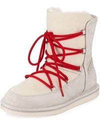 UGG - Lodge Fur-lined Lace-up Boots - Lyst
