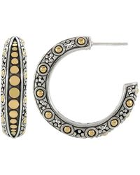 John Hardy - Jaisalmer Dot Medium Hoop Earrings - Lyst