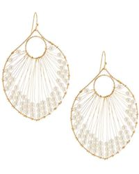 Panacea - Pearly Beaded Wire Drop Earrings - Lyst