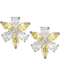 Fantasia by Deserio - Cz Flower Cluster Earrings - Lyst