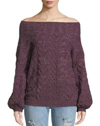 Tularosa - Vanna Off-the-shoulder Shimmer Sweater - Lyst