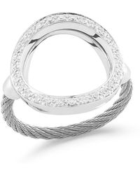 Alor - Open Diamond Pave Circle Ring Size 6.5 - Lyst