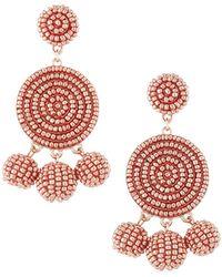 Panacea - Round Seed Bead Drop Earrings - Lyst