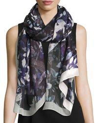 Ivanka Trump - Floral-print Oblong Wrap Scarf - Lyst