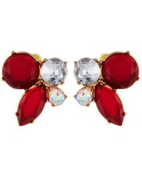 Lydell NYC - Crystal Cluster Stud Earrings - Lyst
