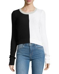 Todd And Duncan - Two-tone Waffle-knit Sweater - Lyst