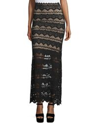 Nightcap - Spiral Lace Maxi Skirt - Lyst