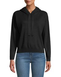 Nicole Miller - Cropped Hooded Sweater - Lyst