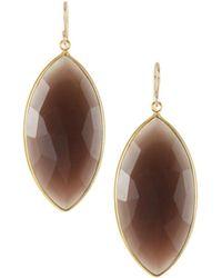 Devon Leigh - Earth-tone Agate Drop Earrings - Lyst