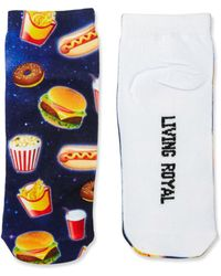 Living Royal - Fast Food-printed Ankle Socks - Lyst