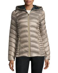Laundry by Shelli Segal - Lightweight Quilted Down Coat - Lyst