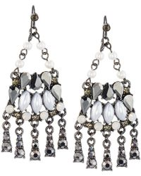 Lydell NYC - Mixed Crystal & Simulated Pearl Chandelier Earrings - Lyst