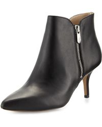 Adrienne Vittadini - Double-zip Pointed-toe Bootie - Lyst
