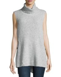 Elliatt - Sleeveless Ribbed Knit Turtleneck Sweater - Lyst